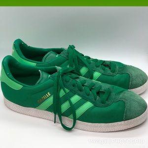 Adidas Men's Green Gazelle Vintage Sneakers Sz12
